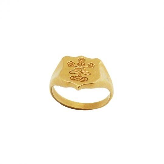 Mirabelle - Floral Crest Signet Ring