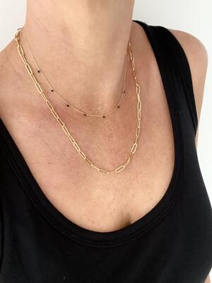 Black Spinel Dotty Necklace