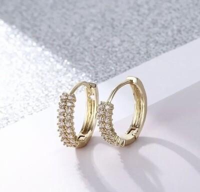 18ct Gold / Silver Filled 12mm Huggie Hoop Earrings