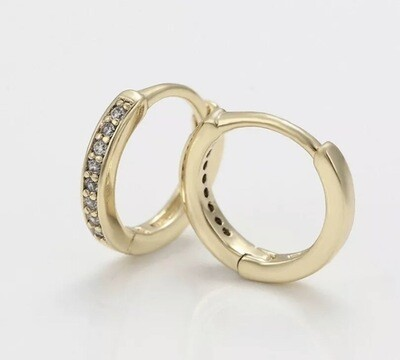 14ct Gold / Silver Filled Sleeper Huggie Hoop Earrings