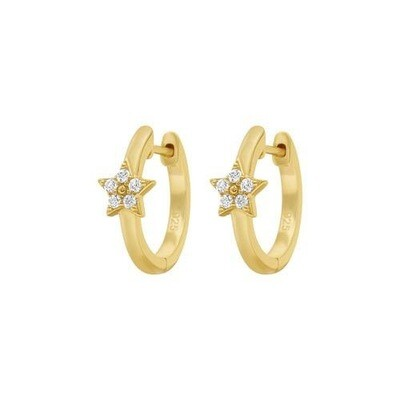 Mirabelle - 18ct Gold Mini Star Hoops