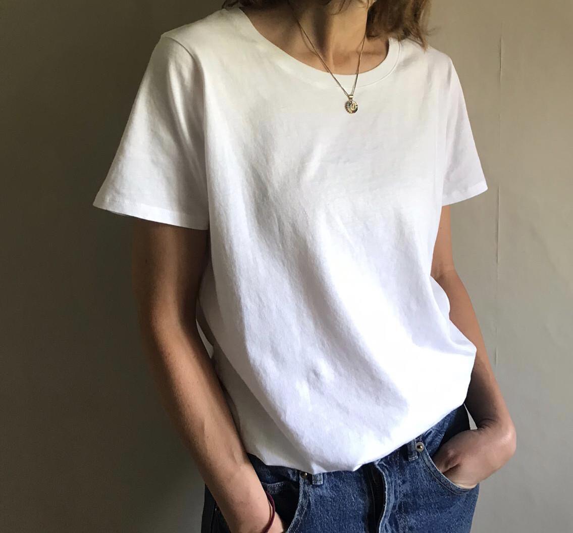 Ivy - Mabel Organic Cotton Low Crew - White
