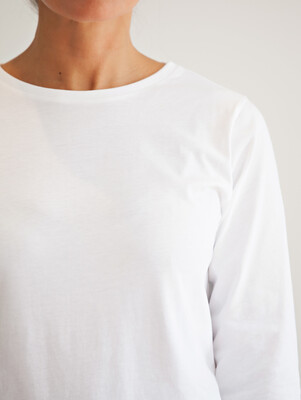 Ivy - Layla Crew Neck Long Sleeve - White