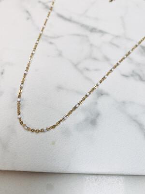 Laviandbelle - Dot Necklace - White