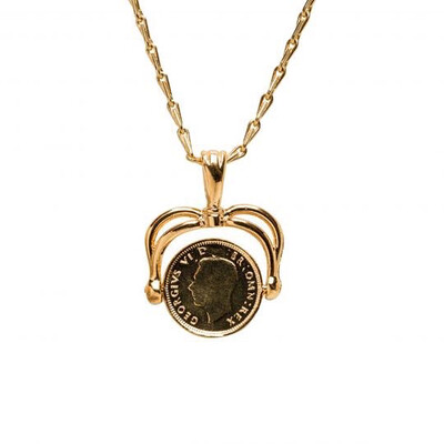 Mirabelle - Art Deco Coin Spinner Necklace