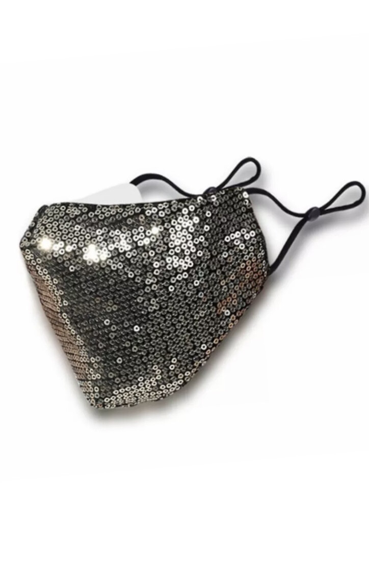 Sequin Non Medical Face Covering - Gold