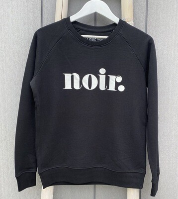 Love Sweat & Tee's Noir Sweatshirt - Black