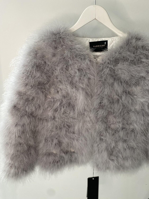 Feather Jacket - Light Grey
