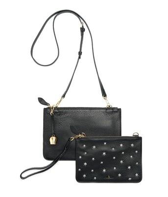 Bell & Fox KATI Clutch / Crossbody Bag - Black / Star