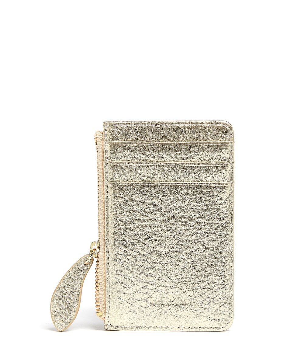 Bell & Fox LIA credit Card Purse - Gold Leather