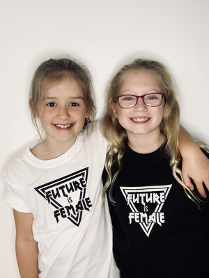 Future Is Female Embroidered T Shirt