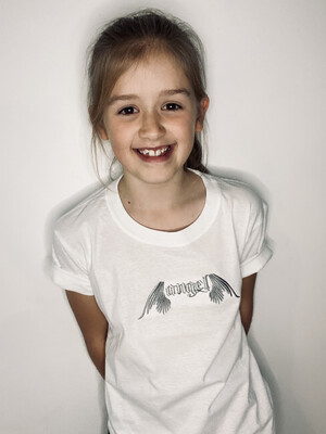 Angel Embroidered T Shirt