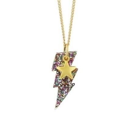 Lightning Star Necklace - Kids