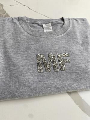 Sparkle Initial T Shirt
