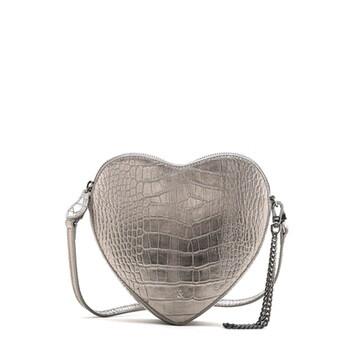 Bell & Fox AMOUR Heart Crossbody I wristlet Clutch Bag - Croc Pewter