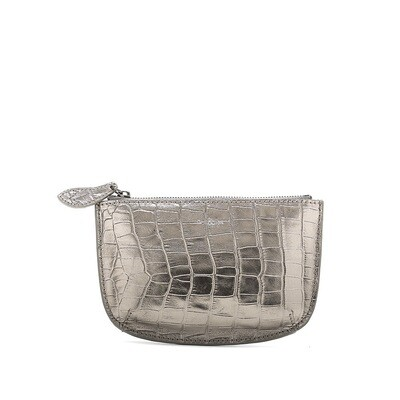 Bell & Fox FAYE leather Purse - Pewter Croc