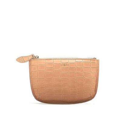 Bell & Fox FAYE leather Purse - Camel Croc