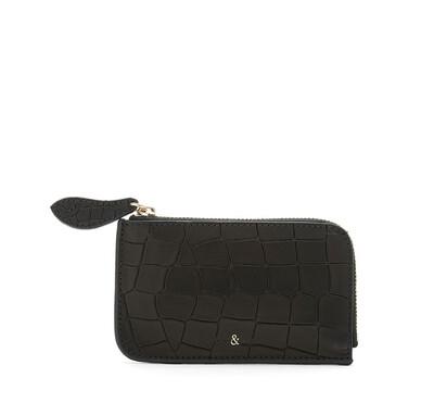 Bell & Fox FERN Credit Card Purse - Black Croc