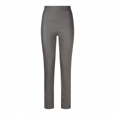 Faux Leather Leggings - Grey