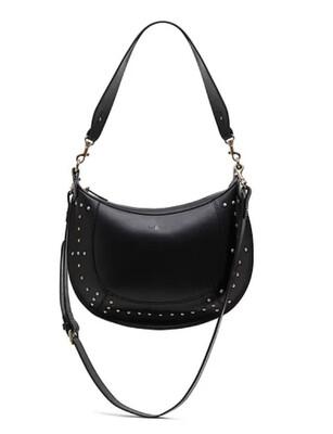 Bell & Fox Tabitha Studded Hobo Crossbody Bag - Black