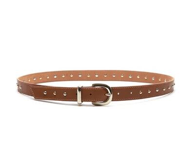 Bell & Fox ERIN Belt Studded - Tan Nappa