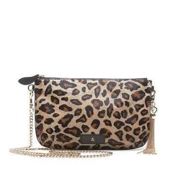 Bell & Fox IVY Crossbody/clutch - Leopard Printed Pony Effect