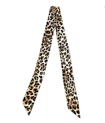 Skinny Neck Scarves - Leopard