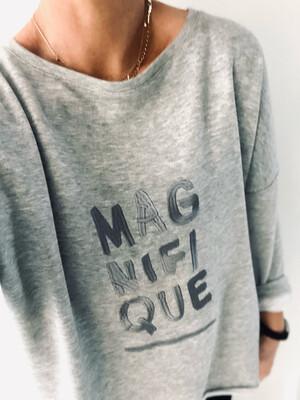 Magnifique Relaxed Sweatshirt - Heather Grey