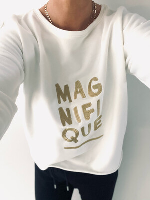 Magnifique Relaxed Sweatshirt - Off White