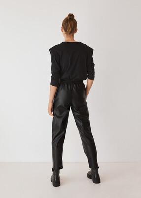 Mango Faux Leather Jogger Trouser