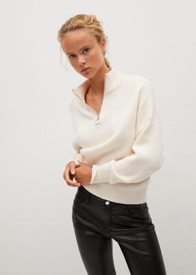 Mango Faux Leather Slim Jean