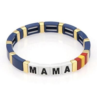 Laviandbelle - Rainbow Tile Bracelet - MAMA