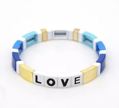 Laviandbelle - Bluebell Tile Bracelet - LOVE
