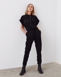 Short Sleeve Jumpsuit - Black - Coming Soon