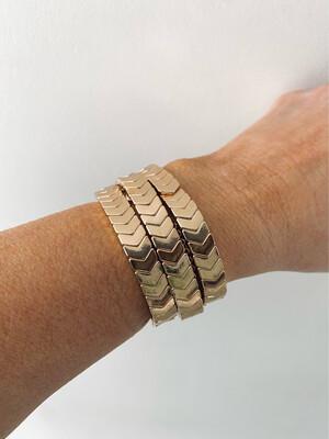 Gold Chevron Tile Bracelet