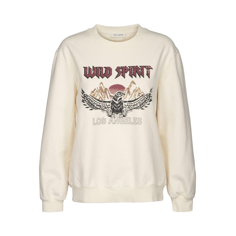 Wild Spirit Printed Sweatshirt - Cream