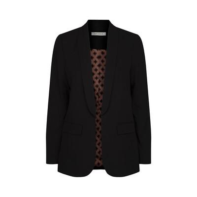 Shawl Collar Essential Blazer - Black