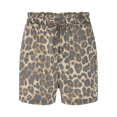 Printed Relaxed Shorts - Leopard