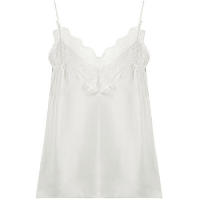 Lace Trim Essential Cami - White