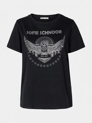 Sofie Schnoor Motif T Shirt - Black