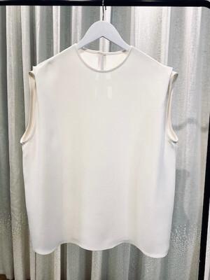 Tuck Shoulder Top - White