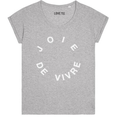 Love Sweat & Tees Joie De Vivre Scoop Neck Tee - Grey