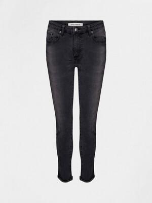 Mid Rise Washed Black Jeans - Skinny - Washed Black