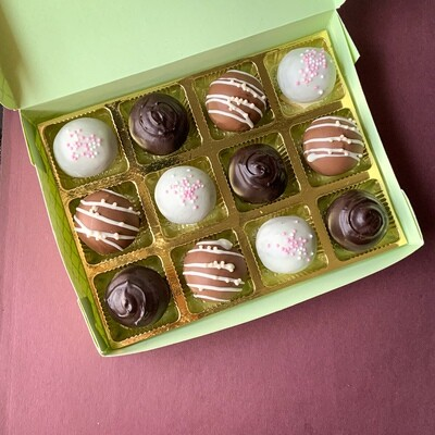 Cake Truffles box of 12