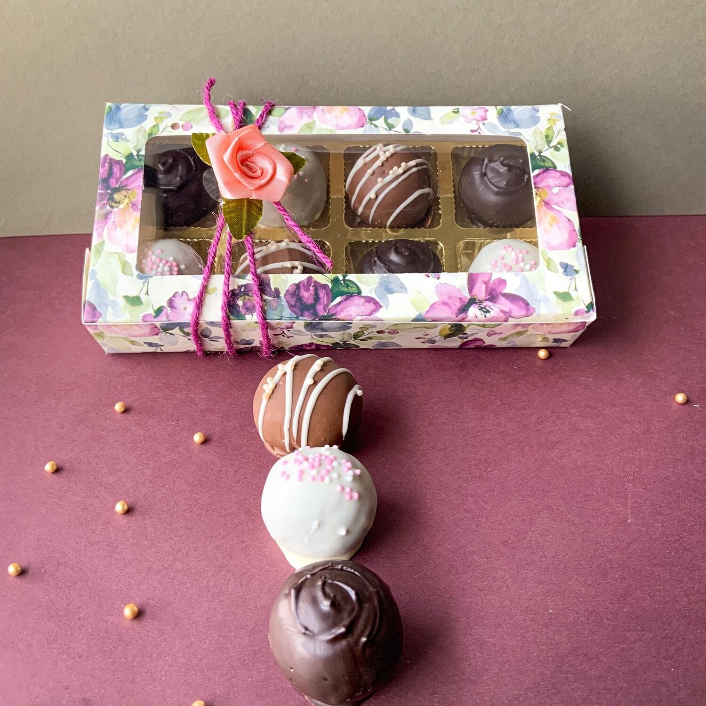 Cake Truffles box of 8