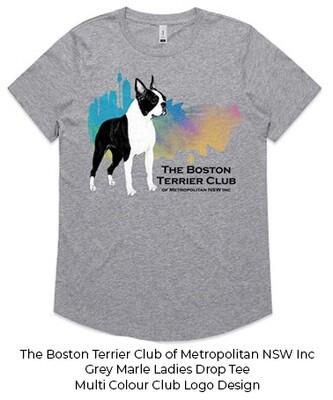 Ladies Drop T-Shirt - Club Logo Designs