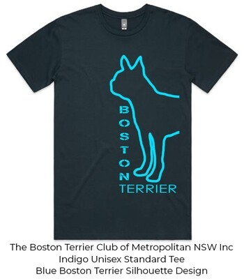 Unisex Standard T-Shirt - Boston Terrier Silhouette Designs