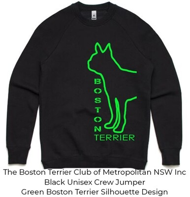 Unisex Standard Crew Jumper - Boston Terrier Silhouette Designs