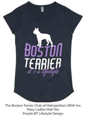 Ladies Mali T-Shirt - Boston Terrier Lifestyle Designs
