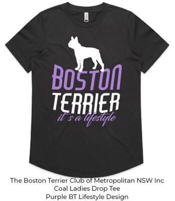 Ladies Drop T-Shirt - Boston Terrier Lifestyle Designs